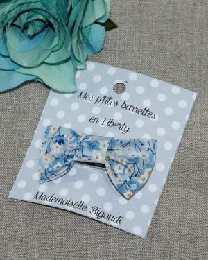 Barrette en Liberty Mitsy Valeria bleu clair