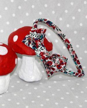 Réservé Marie-Christine serre-tête petit nœud/accessoire enfant Liberty Wiltshire multicolore