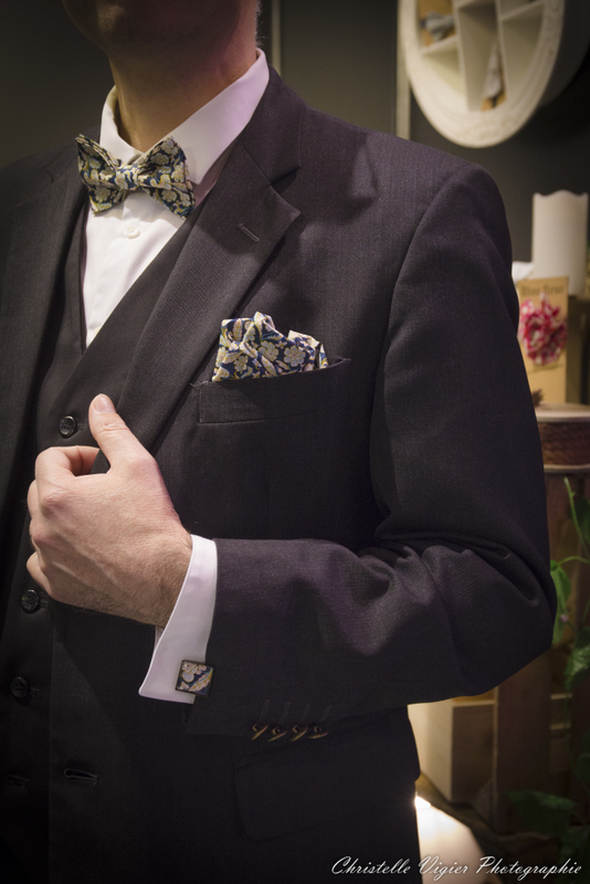 noeud papillon homme mariage fait main made in France dress code boutons de manchettes mademoiselle Pap et Cie