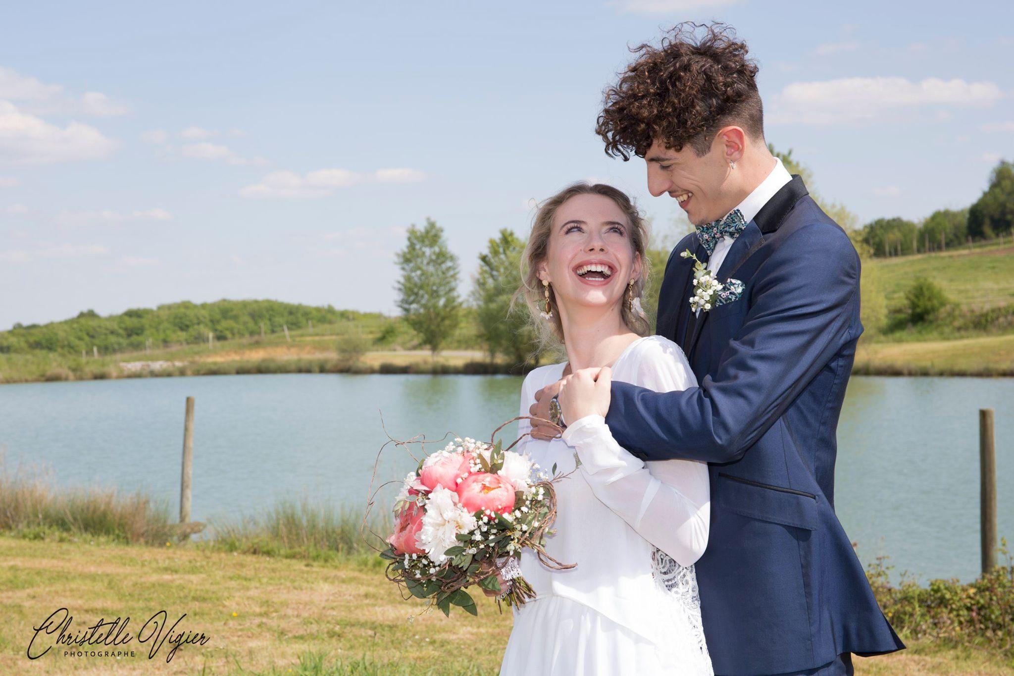 Les mariés en style Bohème de mademoiselle Pap et Cie
