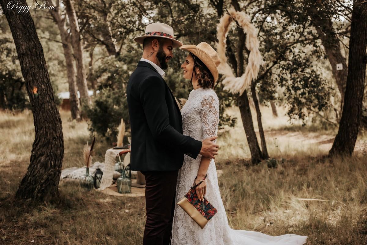 chapeau cow boy et fedora Liberty mariage