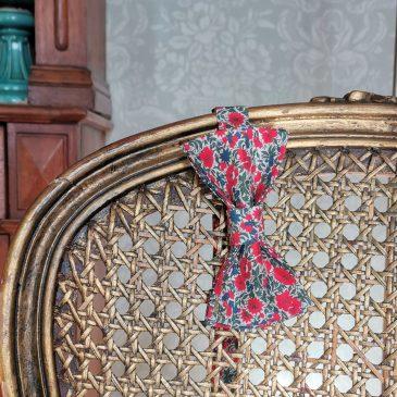 Nœud papillon pré-noué homme Liberty Rosalind rouge