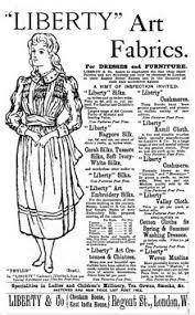 Mademoiselle Pap et Cie - historique tissu Liberty