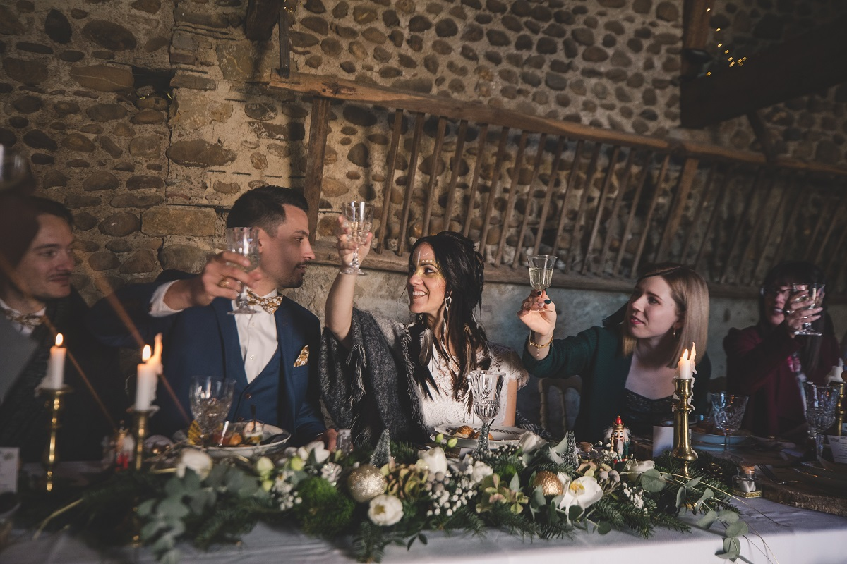 table pour mariage amérindien en hivers