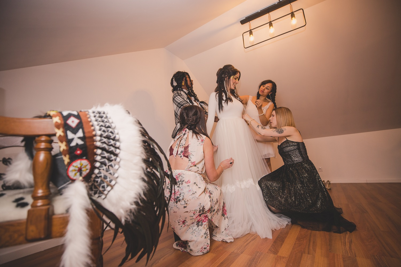 demoiselle honneur pour un mariage amérindien Mademoiselle Pap et Cie