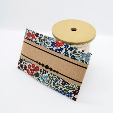 Pochette pour homme Liberty Sweet May blue red