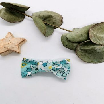 Barrette en Liberty Betsy Mint and Lemon