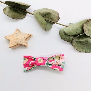 Barrette en Liberty Betsy Pink and Gold