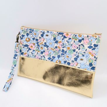 Pochette à main en Liberty Betsy Denim