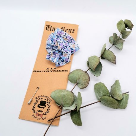Mademoiselle Pap' et Cie mariage Made in France boutonnière Liberty Wiltshire Lilas