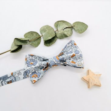 Nœud papillon pré-noué pour homme Liberty Betsy Gris Moutarde