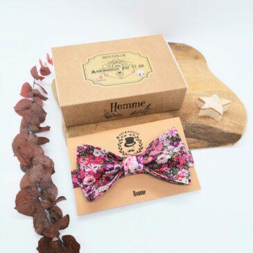 Nœud papillon pré-noué pour homme Liberty Thorpe Hill Rosy Pink