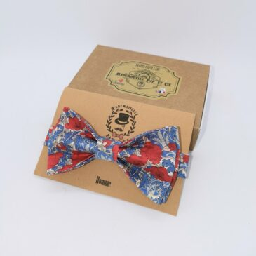 Nœud papillon homme Liberty Clementina Red