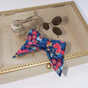 Barrette modèle «luxe» en Liberty Wiltshire Nausicaa