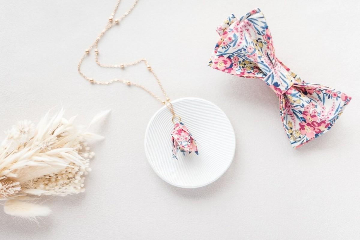 accessoires en Liberty Swirling Petal Corail