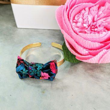 Bracelet en Liberty Ciara Pétrole